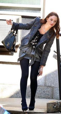 Shoes – Balenciaga, Skirt and jacket – Tibi, Shirt – Milly, Purse – Louis Vuitton