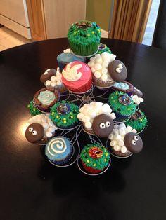 Skylander Cupcakes. love the sheep!
