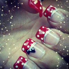 My Minnie Mouse nails.
