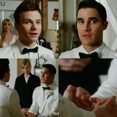 I love how in this scene Kurt was like 'this is ridiculous, we're not marrying' probably only because he didn't know what Blaine was thinking. When he asked Blaine he was like 'I don't know!' Because he wanted to marry Kurt, but didn't say yes because of what Kurt said. He didn't say no because he really wanted to marry Kurt.