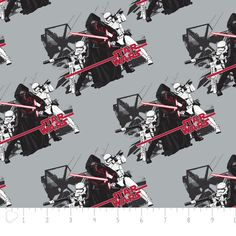 Star Wars Fabric: Star Wars The Force Awakens  Imperial Grey