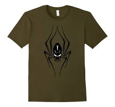 Celebrate Happy Halloween Scary Black Spider Skull T Shirt