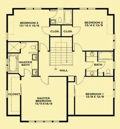 Upper Level Floor Plans For Cozy Craftsman