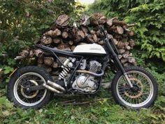 Custom DR650 tracker - TPCustom Ktm 525 Exc, Ktm Exc, Flat Track Motorcycle, Retro Motorcycle, Custom Tanks, Custom Bikes, Cafe Racer Parts, Mx Bikes