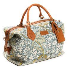 William Morris x Barbour Kennet Weekend Bag.