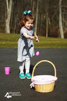 Kids Easter Party Games - Egg Basket Toss