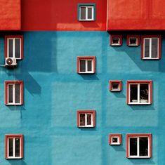 Shape vs colour Istanbul's vibrant contemporary architecture Architecture Design, Contemporary Architecture, Architecture Colleges, Geometry Architecture, Architecture Magazines, Minimal Photography, Photography Triangle, Photography Composition, Park Photography