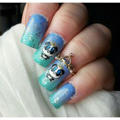Animal I love for #clairestelle8feb and who doesn't love pandas and crown wearing pandas at that  though hubby said we absolutely cannot have one as a pet as the bunnies may protest having to share their house.......I think he's just being mean  by louisenails