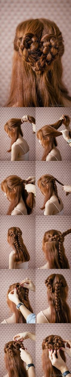 The Most Romantic #Hairstyle – Heart Braid