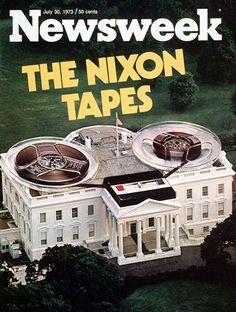 Eine fantastische Fotomontage, auch wenn das Tonband natürlich antiquiert wirkt, ist die Aussagekraft dieses Fotos enorm. Die Watergate Affäre – Richard Nixon behauptet schließlich in einem Interview mit dem David Frost, dass er sich als Präsident nicht an die Gesetze seines Landes halten muss. Absolut unglaublich.