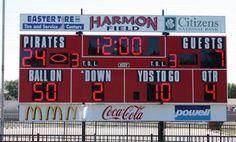 Scoreboard, Harmon Field.    nevco.com