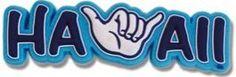 Hawaii PVC Magnet Shaka Hawaii Blue