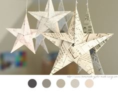 Origami étoile - Star - DIY Fête De Noël - Ornement - Tuto - Tutoriel - Christmas -