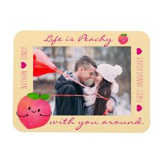 Shop Positive Peach Pun - Peachy Magnet created by PunnyGarden. Positive Messages, Positive Quotes, Peach Puns, Garden Puns, When I Met You, Fruit Illustration, Witty Quotes, Photo Magnets, Are You The One