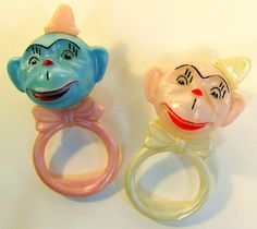Vintage Celluloid Monkey Baby Rattles by socal72girl, via Flickr