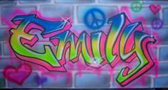 Personalized Original Kids Graffiti Name Painting by MpressArt, $98.00