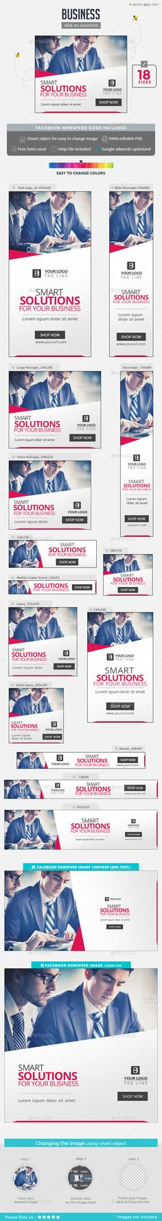 Business Banners - #Banners & Ads #Web Elements Download here: https://graphicriver.net/item/business-banners/18566260?ref=alena994
