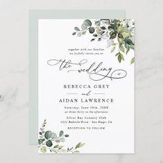 Succulent Wedding Invitations, Monogram Wedding Invitations, Classic Wedding Invitations, Watercolor Wedding Invitations, Wedding Envelopes, Rustic Invitations, Shower Invitations, Invitation Ideas, Invitation Templates