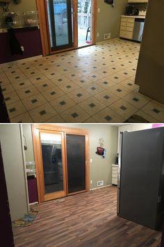 Kitchen Flooring Flip with Walnut Laminate!