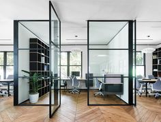 A private office's workstations and chairs are by Yves Béhar, who also designed the San Francisco space. Photography by Joe ...