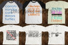 One Direction Customized Shirts ALMOST 50 DESIGNS by undefined17, $25.00