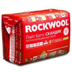 Каменная вата Rockwool Лайт Баттс скандик 800х600х50мм (уп/12шт, 5,76м2) - Смеси-Здесь