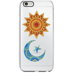 Sun and Moon Transparent Silicone Plastic Phone Case for iphone 6... (4.97 CAD) ❤ liked on Polyvore featuring accessories and tech accessories