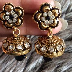Bollywood Style Indian earrings  HOST PICK  High quality rhinestone, pearls earrings. Little heavy.  If you don't like the price, feel free to make me an offer. Jewelry Earrings