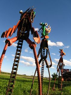 """World's largest scrap metal sculpture"" stands in an outsider art sculpture garden in the middle of Wisconsin"