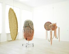 Installation view of Haegue Yang at Galerie Wien Lukatsch, Berlin, 2015 Photo: Nich Ash Courtesy Galerie Wien Lukatsch, Berlin