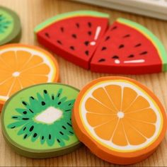 1pc/ packCute Fresh Fruit design eraser Kawaii Watermelon Orange Kiwifruit erasers students' gift prize office school supplies