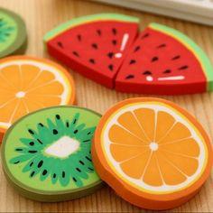1 pz/packCute Frutta Fresca disegno eraser Kawaii Anguria Arancia Kiwi gomme premio regalo studenti ufficio scolastico forniture