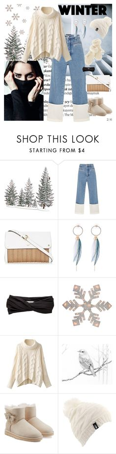 """""""Winter ❄️"""" by amore520 ❤ liked on Polyvore featuring Balmain, Loewe, Eugenia Kim, UGG Australia, The North Face and Mark & Graham"""
