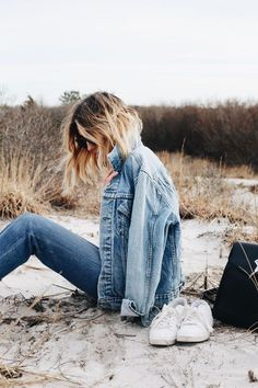 Chic Denim Jacket +  Jeans Outfit Ideas for Summer  | ko-te.com by @evatornado
