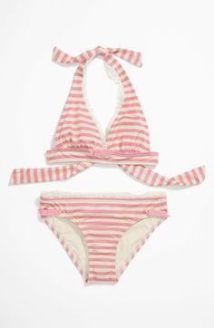 On Sale: Juicy Couture Girls Striped Pink Bikini