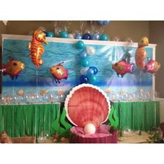 Decor for a under the sea party or a little mermaid party This is a shingdigz…
