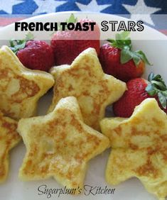 Breakfast Delights French Toast Stars-T Food & Drink Healthy Snacks Nutrition Cocktail Recipes French Toast Stars-These adorable little french toast stars are perfect for of July! Holiday Snacks, Holiday Recipes, Holiday Gifts, What's For Breakfast, Breakfast Recipes, Breakfast Bites, Fourth Of July Food, July 4th, Fourth Of July Recipes