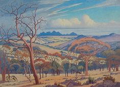 Buy online, view images and see past prices for Jacob Hendrik Pierneef SOUTH AFRICAN Invaluable is the world's largest marketplace for art, antiques, and collectibles. Landscape Art, Landscape Paintings, Most Expensive Painting, African Paintings, South African Artists, Africa Art, Watercolor Trees, Watercolor Painting, Malva
