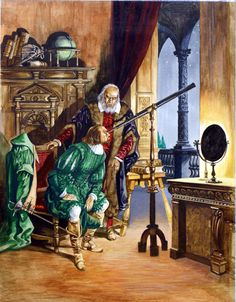 The Vision of Galileo (Original) art by Peter Jackson