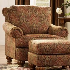 Chintz Armchair Floral Chair Vintage Viewpoint Pinterest
