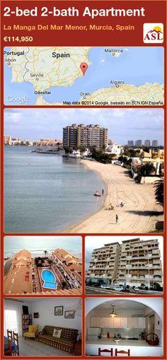 2-bed 2-bath Apartment in La Manga Del Mar Menor, Murcia, Spain ►€114,950 #PropertyForSaleInSpain