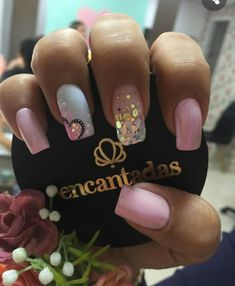 Easy Valentines Day Nail Designs for Short Nails Fancy Nails, Trendy Nails, Pink Nails, Pink Sparkle Nails, Pink Sparkles, Valentine's Day Nail Designs, Heart Nail Designs, Nails Design, Art Designs