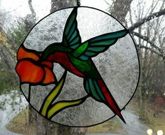 Check out this item in my Etsy shop https://www.etsy.com/listing/275449680/stained-glass-hummingbird-sun-catcher