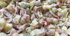 meetvursti pastasalaatti Salad Dressing, Pasta Salad, Potato Salad, Goodies, Food And Drink, Snacks, Baking, Ethnic Recipes, Koti