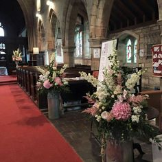 A flower filled church #parsleyandsage #wedding