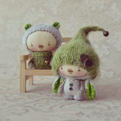Привет! Сегодня такая парочка любителей зеленого горошка. Сделаны на заказ.