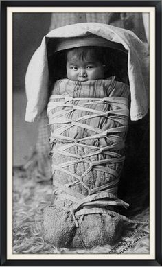 Beautiful Navajo baby. 1908. By Mischler and Walker.