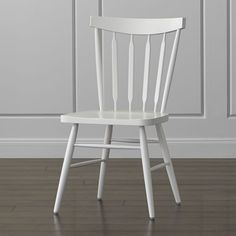 Willa White Wood Dining Chair - Crate and Barrel