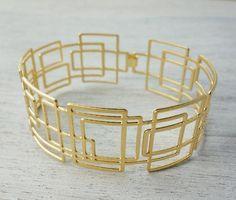 bracelet larsen doré de shlomit ofir