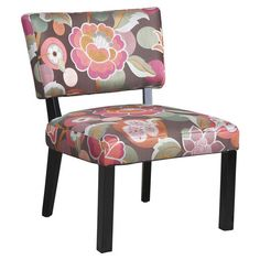 Floral accent chair.    Product: Chair    Construction Material: Rayon, polyester and wood    Color: P...